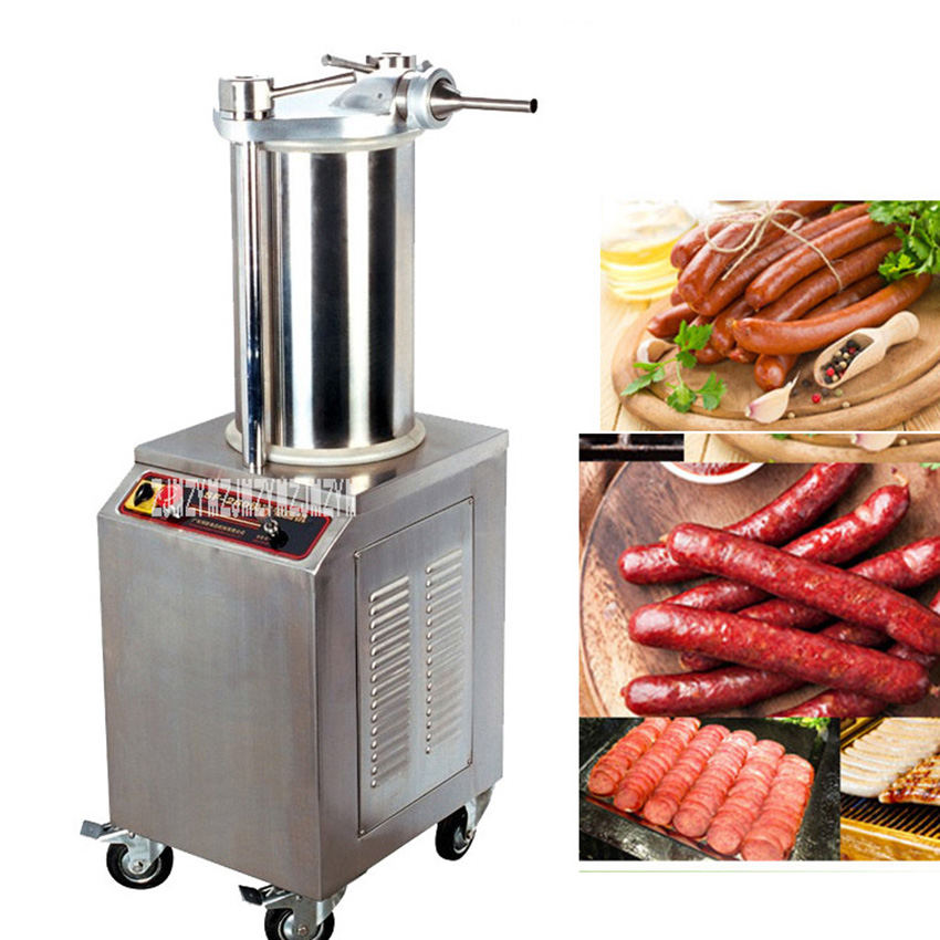 SF-260 Commercial Automatic Stuffer Filler Machine Stainless Steel Hydraulic Pressure Electric Sausage Stuffer Machine 220V 1