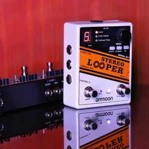 Image 3 - جودة جيدة أجزاء الغيتار ammoon ستيريو وبر حلقة سجل الغيتار تأثير دواسة 10 حلقات مستقلة كحد أقصى. 10 دقيقة وقت التسجيل