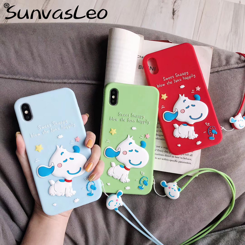 For iPhone X XS XR XS Max 6 6s 7 8 Plus 3D Sweet Animal Cute Cartoon Soft Silicone Case Phone Back Cover Mobile Protective Cases in Fitted Cases from Cellphones Telecommunications