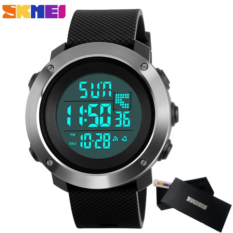 2017 Skmei Men's Fashion Sport Watches Men Digital LED electronic Clock Man Military Waterproof Watch Women Relogio Masculino skmei 1055 fashion 50m waterproof student led electronic sport watch