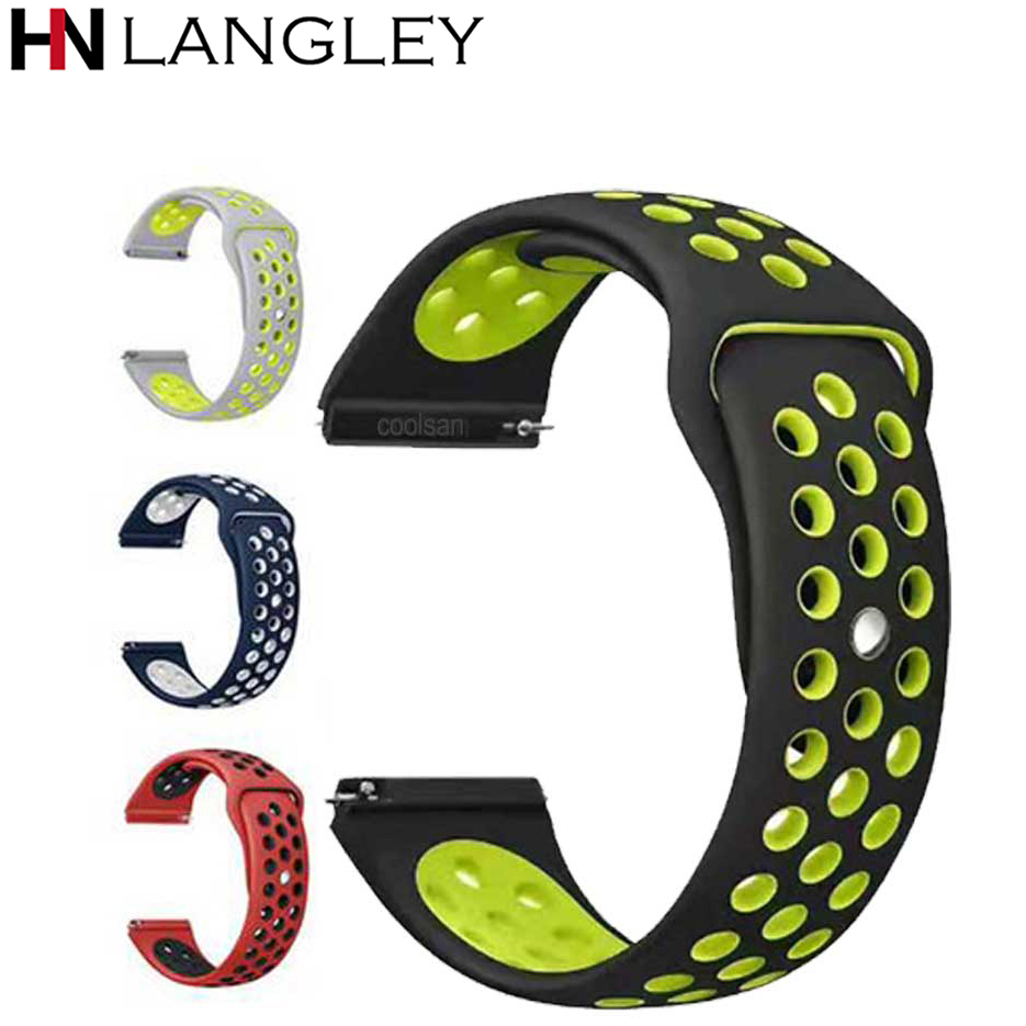 20 22 MM silicone Strap For Samsung Gear sport S2 S3 Classic Frontier watch Band <font><b>amazfit</b></font> pace Bip <font><b>BIT</b></font> Lite for Huawei Watch <font><b>2</b></font> image