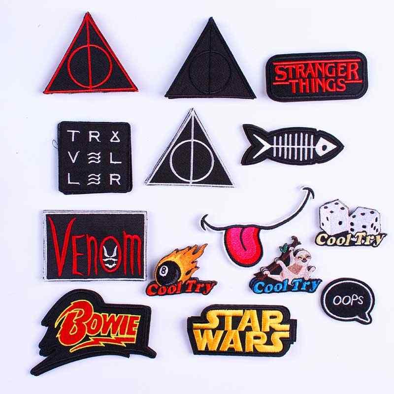 Remendo do motociclista do punk ferro em remendos na roupa remendos bordados da letra para a roupa star wars remendos acessórios emblemas f
