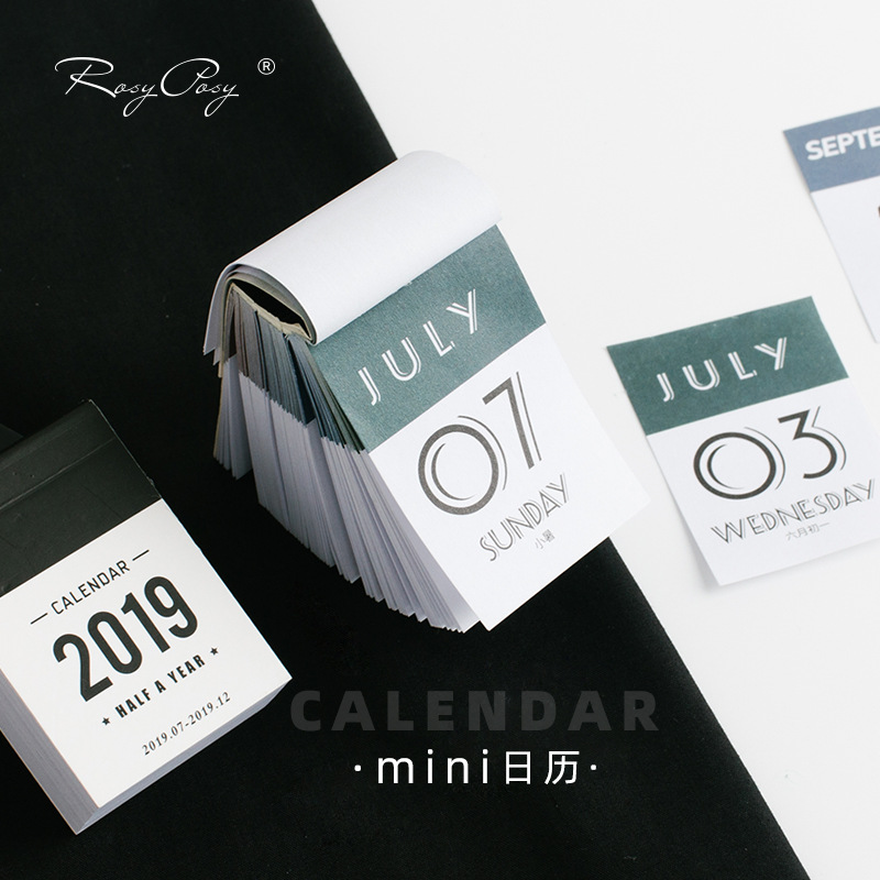 2019-2020 Mini Desktop Paper Calendar Dual Daily Scheduler Table Planner Yearly Agenda Organizer To Do List Daily Planner Book