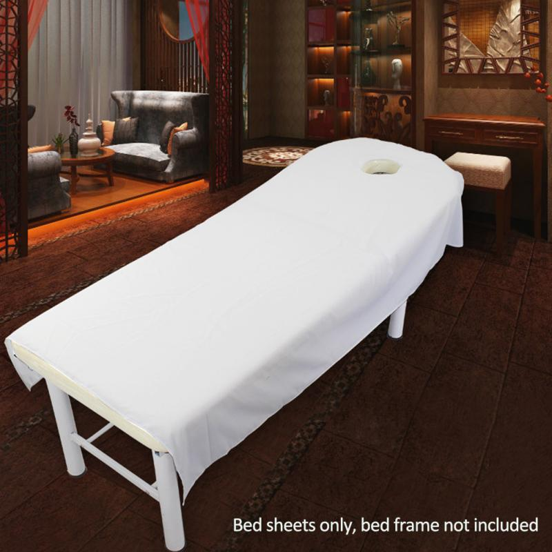 80 Cm * 190 Cm Cosmetische Salon Lakens Spa Massage Behandeling Bed Tafel Cover Lakens Met Gat
