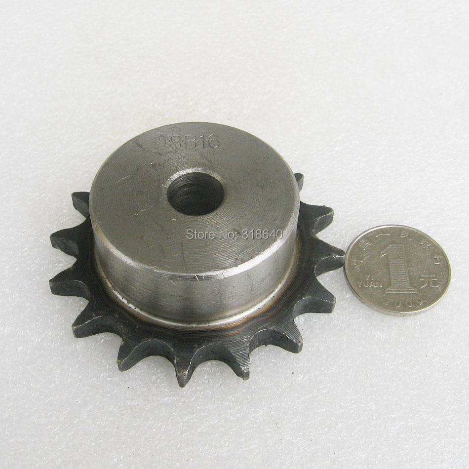 "08B 16T 16Teeth Pitch 12.7mm 1/2"" Bore not larger than 14.3mm Industry Transmission Driving Single Sprockets mechanical parts