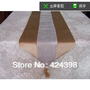 Luxury Paillette Fashion Table Runner Table Overlays For Wedding