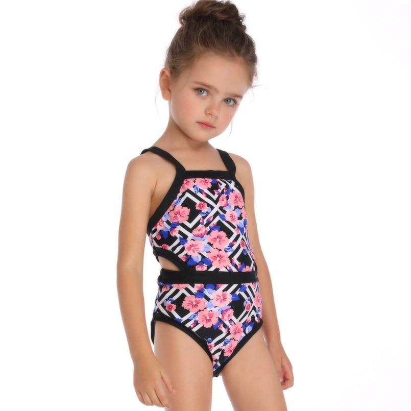 Girls Kids One Piece Cartoon Swimwear Bikini Swimsuit Bathers Swimmers Size 3-7