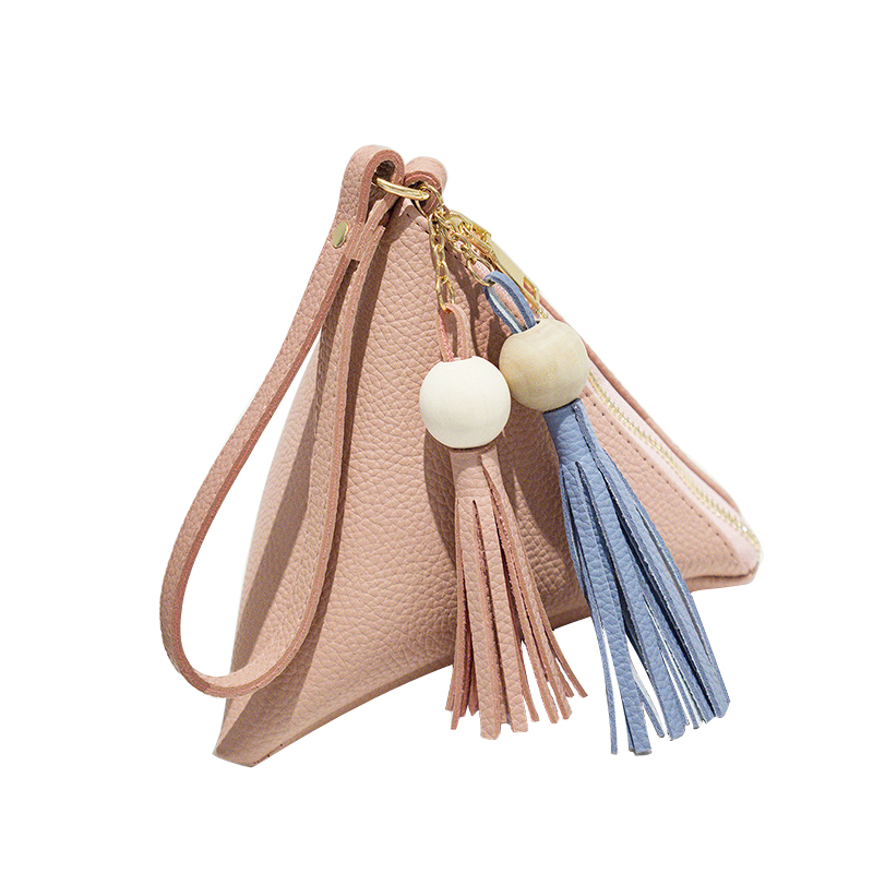 Mini Triangle Women Clutch Purse Hand Bag Wristlets Strap Small Women Bag Lady Clutches Casual Phone Package