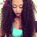 Kinky Curly Silk Base Full Lace Wig Glueless Full Lace Human Hair Wigs Virgin Brazilian Silk Top Kinky Curly Wig With Baby Hair