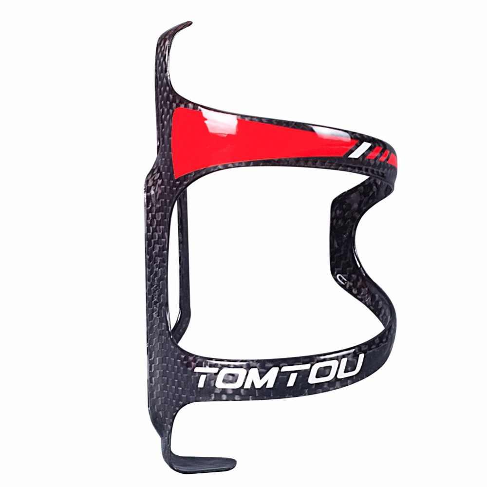 TOMTOU полностью углеродная бутылка из стекловолокна клетка, упаковка из 2 Легкий шоссейный велосипед MTB держатель для бутылки воды