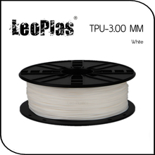 Worldwide Fast Delivery Manufacturer 3D Printer Material 1kg 2.2lb Soft 3mm Flexible White TPU Filament
