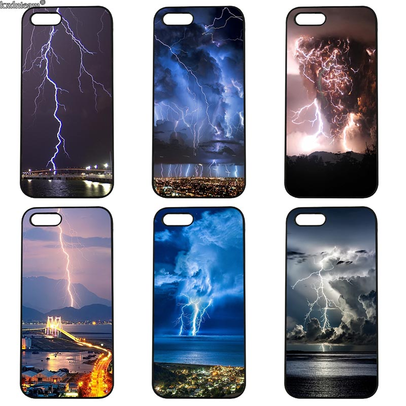 Mobile Phone Case Flash of Lightning Hard Plastic Cover Fitted for iphone 8 7 6 6S Plus X 5S 5C 5 SE 4 4S iPod Touch 4 5 6 Shell
