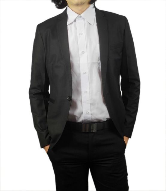Aliexpress.com : Buy Kingsman Gentleman Twill Black Suit Jacket ...