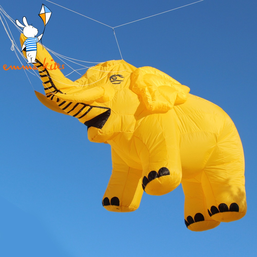 4.6M Large Show Kite Inflatable Elephant Line Laundry For Outdoor Activity