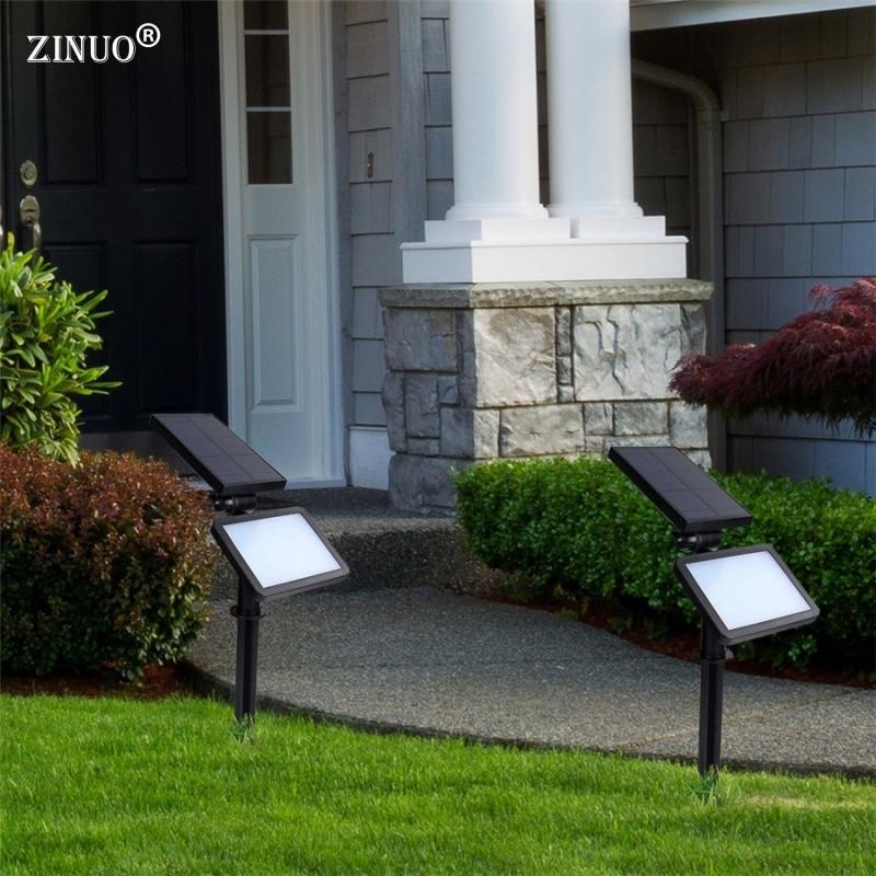 ZINUO Solar Lawn Lamp 48Leds Light  Outdoor Garden Landscape Wall lamps Waterproof Spike Spot Light For Garden Yard Path Park