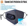 Nova arrivel xiaomi puramente máscara anti-poluição do ar com filtro pm2.5 550 mah battreies recarregável