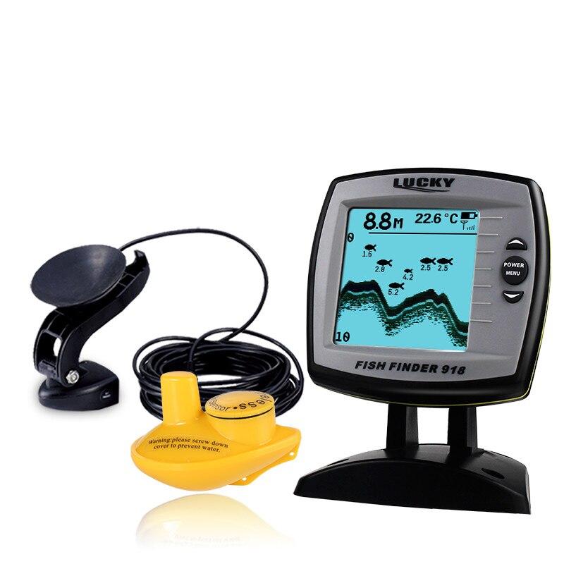 LUCKY Fish Finder filaire/sans fil 2-en-1 écho sondeur profondeur sondeur capteur transducteur détecteur de pêche moniteur FF918-100W