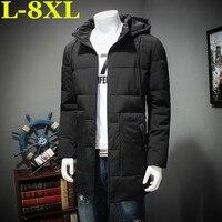 8XL 7XL 6XL grande taille Veste Hommes Casual Parka Veste epais Hommes A Chaud Hommes Cotton padded clothes Manteaux et Vestes