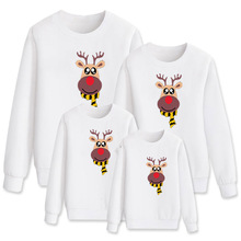 Christmas Deer Family Look Clothes T shirt Sweatshirt Mother Daughter Father Son for Mom Dad Mommy and Me Women Mathcing Outfits