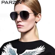 Parzin Double Beam Men Sunglasses Metal Polarized Sunglasses Women Colorful  Male Sun Glasses Sunglases Black With Case  8085