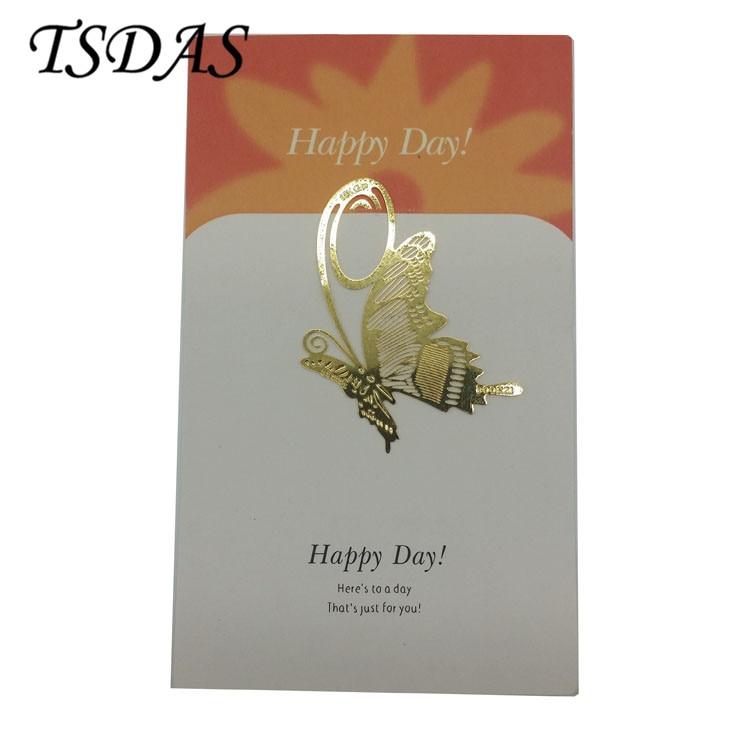 5 5*3 7 cm Golden Butterfly Bookmark Metal, Gold Plating