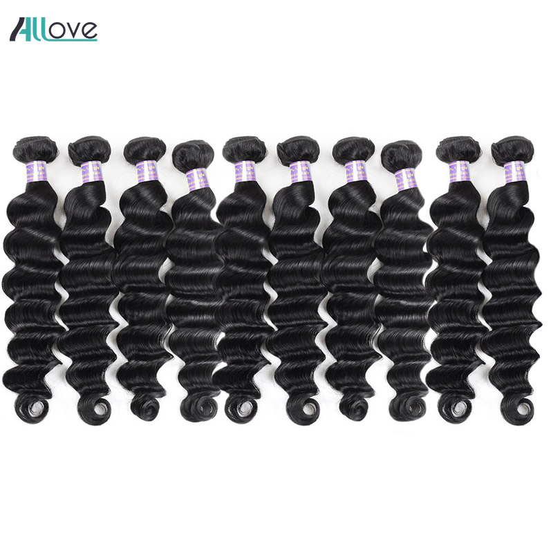 Wholesale Price Loose Deep Wave Hair Bundles 10pcs Lot Brazilian Hair Weave Bundles Free Shipping Non