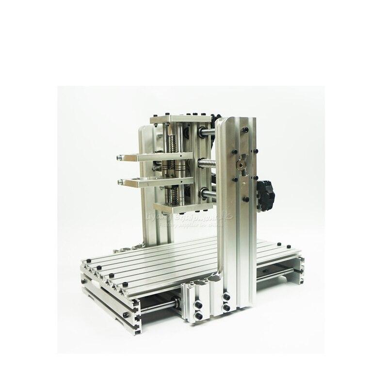 DIY cnc machine frame 2520 aluminum material cnc router kits test well aluminum lathe body cnc 6040 router 1605 ball screw cnc frame kit diy cnc engraving machine