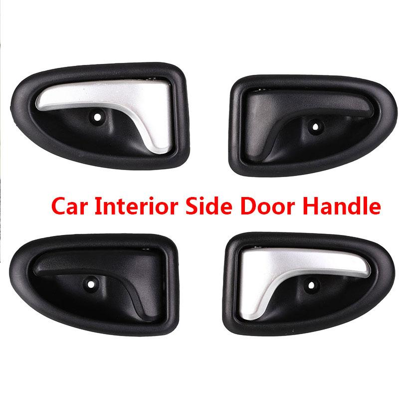 Car Vehicle Interior Left Side Door Handle Fit For Renault Clio Chrome Plating