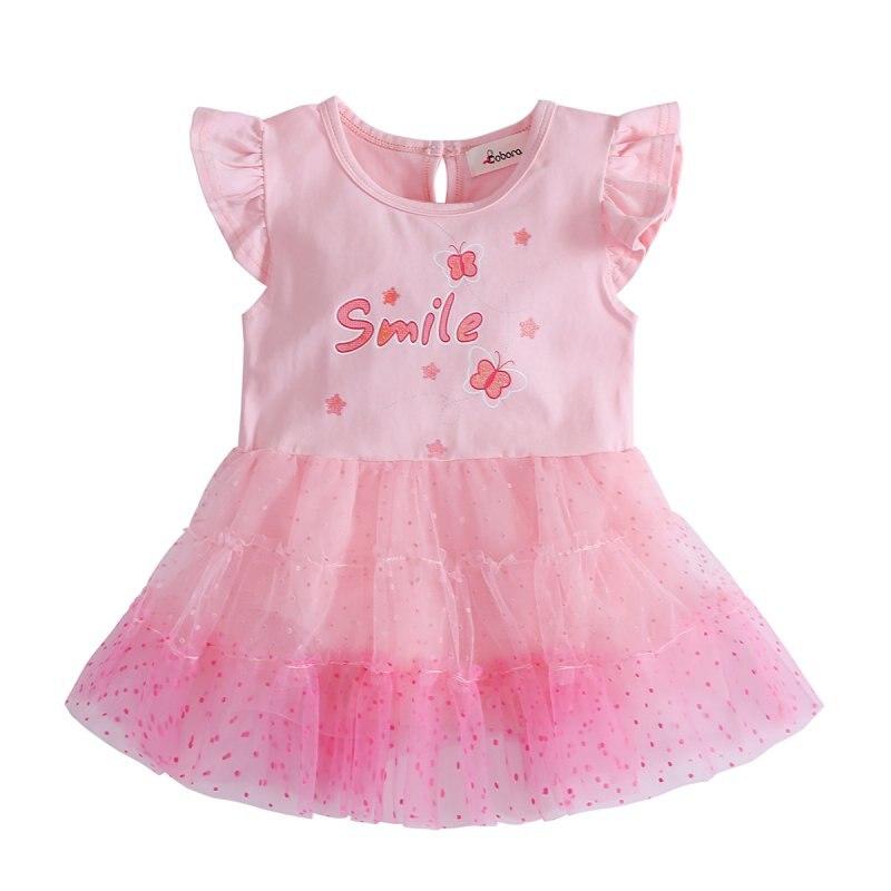 Newborn Baby Girl Dress Sleeve Bow Infants Newborn Baby Clothes Pink Princess Tutu Dress