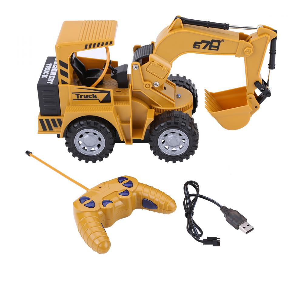 1:24 5 Channel RC Tractor Digger Remote Control Excavator Construction Truck Toys For Boys