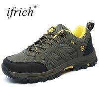 נעלי גברים חיצוני מסלולי טיולים Ifrich אנטי להחליק הליכה מעקב גודל גדול גברים נעלי גברים נעלי אביב נעלי טיפוס הקיץ לאישה