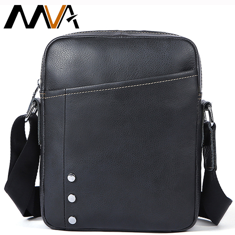 MVA Brand Men Messenger Bag High Quality Genuine Leather Shoulder Bag For Male Business Traveling Crossbody Small Flap Bags 8312 jason tutu promotions men shoulder bags leisure travel black small bag crossbody messenger bag men leather high quality b206