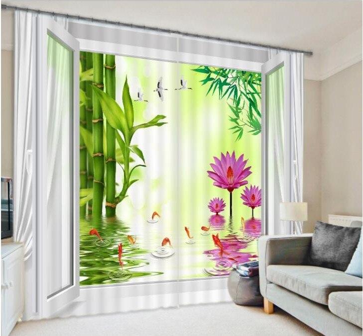 ventana d cortina blackout cortinas cortinas para la sala de estar dormitorio de bamb pjaro floral