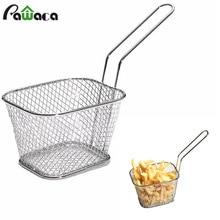 Food-Basket-Holder Chicken-Basket-Chip Snack Frying Stainless-Steel American Serving