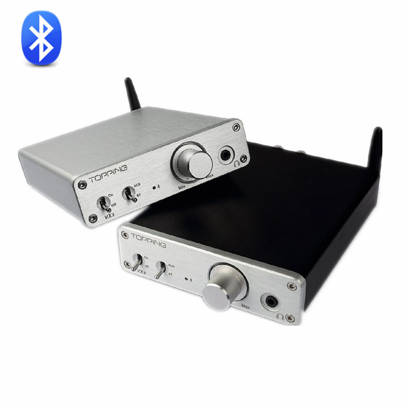 New TOPPING VX3 Class D TPA3116D2 35W*2 Hifi Digital Power Amplifier Wireles Bluetooth 4.0 Audio Headphone AMP Sliver And Black topping vx3 amp hifi power stereo amplifier 35w 2 class d digital audio headphone wireless bluetooth 4 0