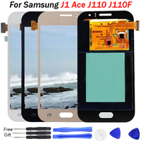 For Samsung J1 display Galaxy J110h AMOLED LCD display touch screen j1 ace sm j110f pantalla replacement Touch Screen Assembly