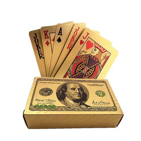24k Karat Gold Foil Plated Game Poker Casino Playing Card Special