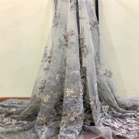 African Embroidered Lace Trim 3D Lace Fabric Net Lace With Beads High Quality Nigerian Beaded Laces 2018 For Wedding W024