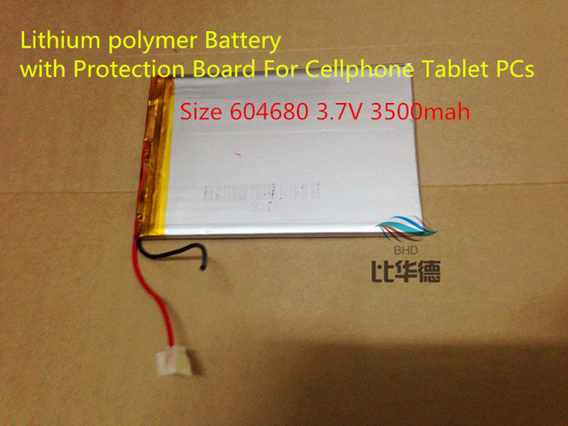 best battery brand Free Shipping Lithium polymer battery Size 604680 3.7V 3500mah Lithium polymer Battery with Protection Board