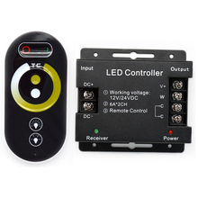 DC12V-24 2 channels  output  wireless Rf touch remote control CT controller for  led strip white and warm white