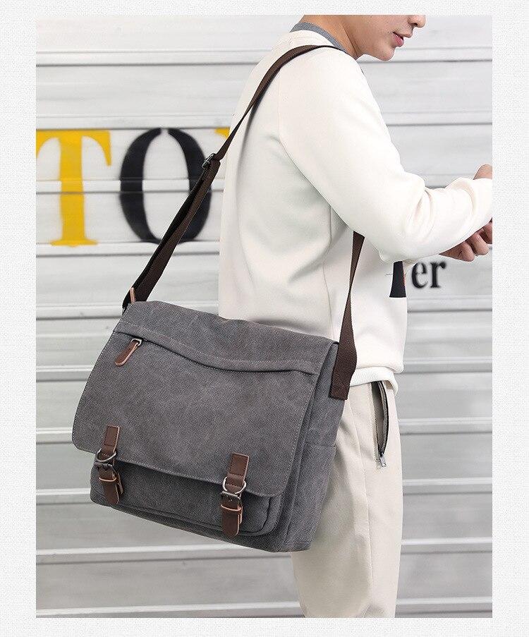 Micom Canvas Men Messenger Bags Vintage Shoulder Belt Bag Large Capacity Business Travel Bag Men\`s Canvas Crossbody Handbag New (6)