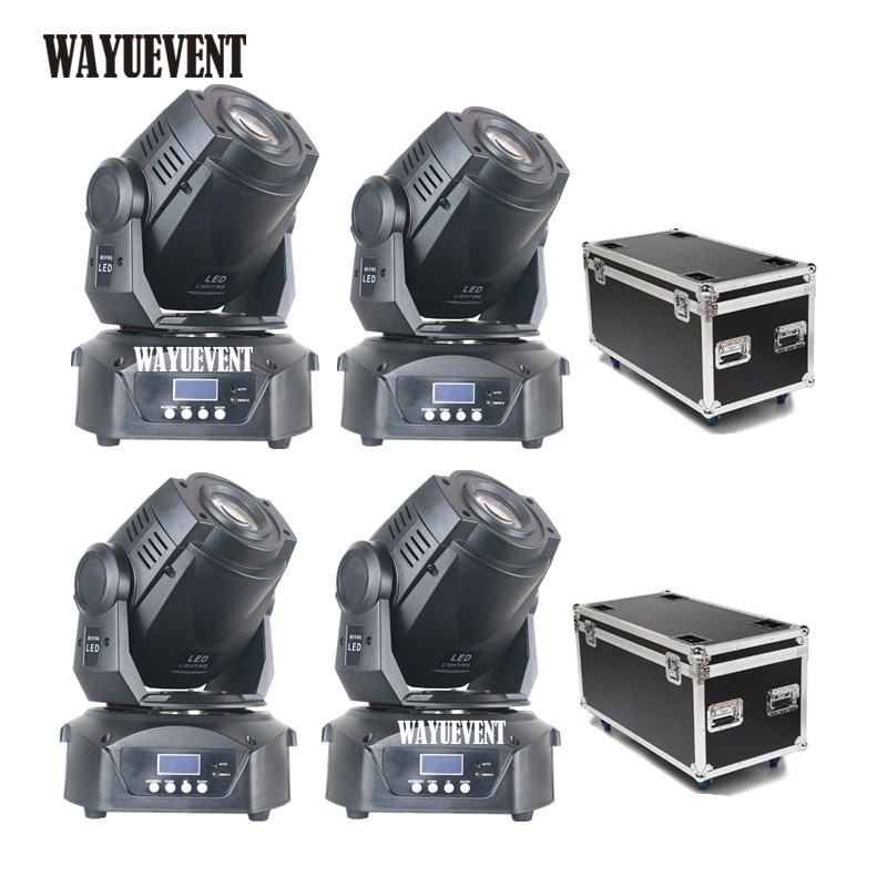 4pcs 90W Lyre LED moving head Light DJ Nightclub Party Disco 90W Moving Head Spot LED GOBO Pattern Stage Light