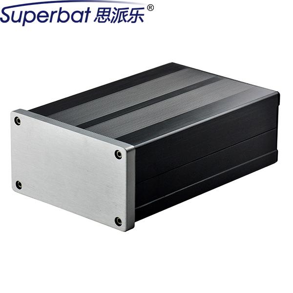 """Superbat 106*55*155mm de Aleación de Aluminio de 4.17*2.17*6.10 """"Caja de Amplificador de Potencia de Audio de ALTA FIDELIDAD sistema de Válvula Electrónica Caja Del Instrumento"""