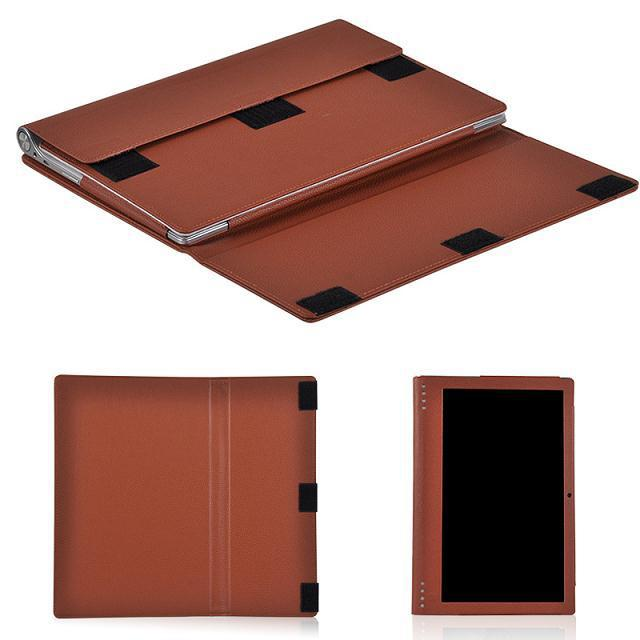 purchase cheap c919e c39a7 US $12.89 |For Lenovo Yoga 2 Pro 1380F 13.3 Tablet PC Customized Good  Quality PU Leather Protective Case Back Stand Cover Brown Color-in Tablets  & ...