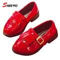 Детская Обувь Обувь для Девочек 2016 Новый Осенняя Мода Кисточка Школьница Обувь Твердые Англия Стиль Краска Светлая Кожа Детская Одежда Обувь 9110 Вт