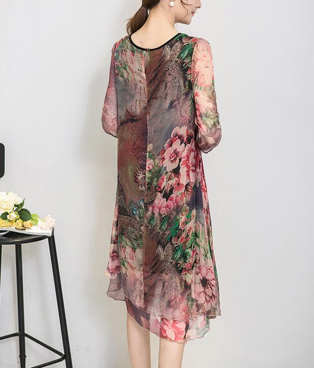 Новые моды для женщин лето плюс размер одежды шелковый винтаж богемия расширение нижний платье печати пляж бальные платья vestidos платья больших размеров