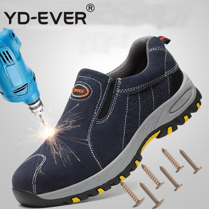 YD EVER Steel Toe Safety Work Shoes Men