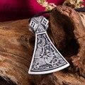 Collar con colgante de hacha vikingo para hombre, joyería para mujer, joyería para mujer, 2 colores a elegir