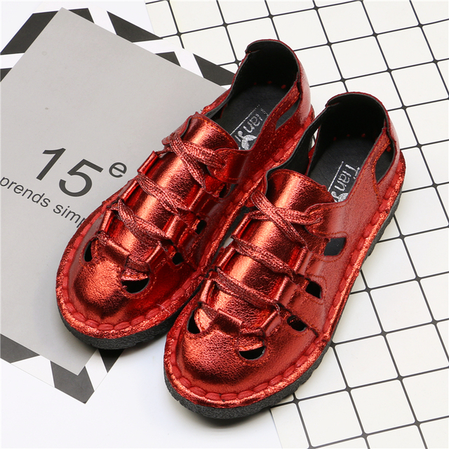 YD-EVER New Women Shine Pu Shoes Breathable Lace-up Casual Shoes with Bling  Comfortable Flat Leisure Shoes Spring Summer bea3c4a2e2a2