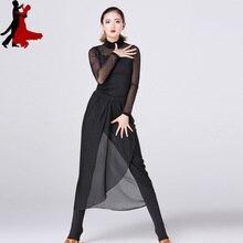 Сексуальный Модный женский танцевальный костюм для латинских танцев, набор одежды для тренировок,, горячая распродажа
